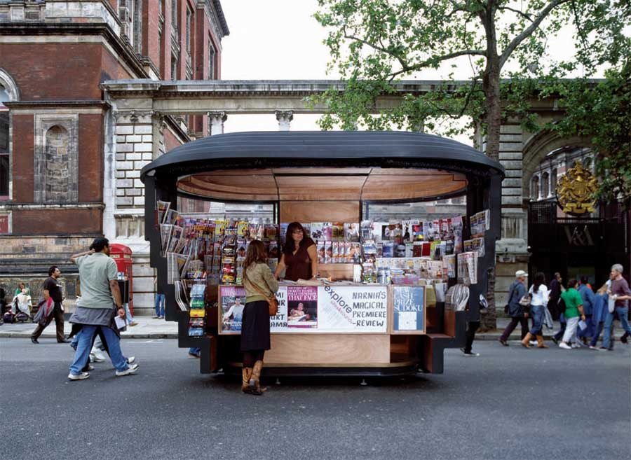 Paperhouse london newspaper kiosks e architect for Architecture kiosk design