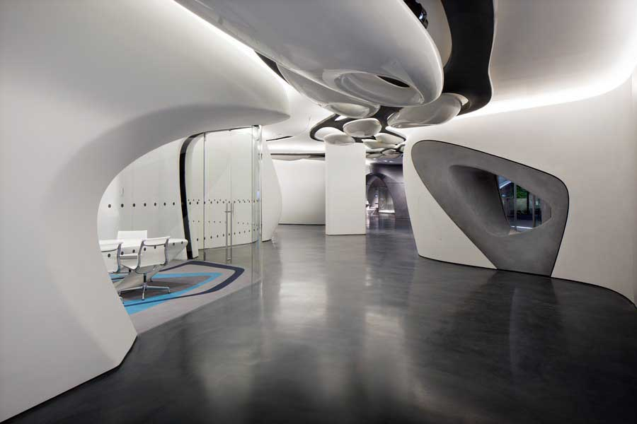 roca london gallery zaha hadid design e architect