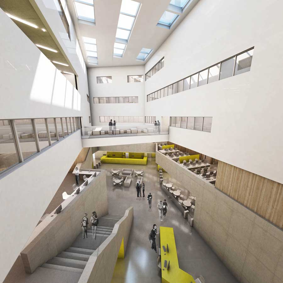 Collaborative Teaching ~ Stratford island university centre london e architect