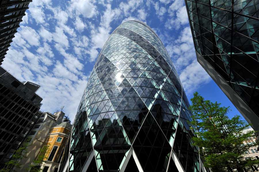 Swiss Re Building: The Gherkin London - e-architect
