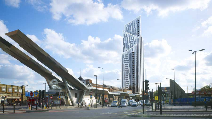 Vauxhall Bondway The Octave Tower E Architect