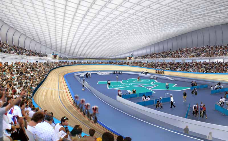 Olympic Velodrom inside view