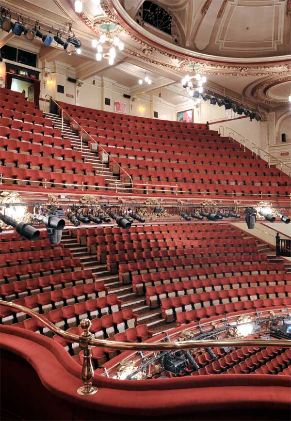 Palace theatre london view from dress circle