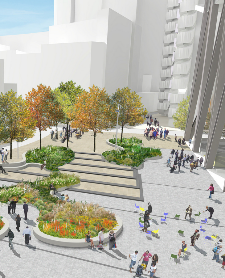 St helen s square city of london e architect for Outer space design landscape architects