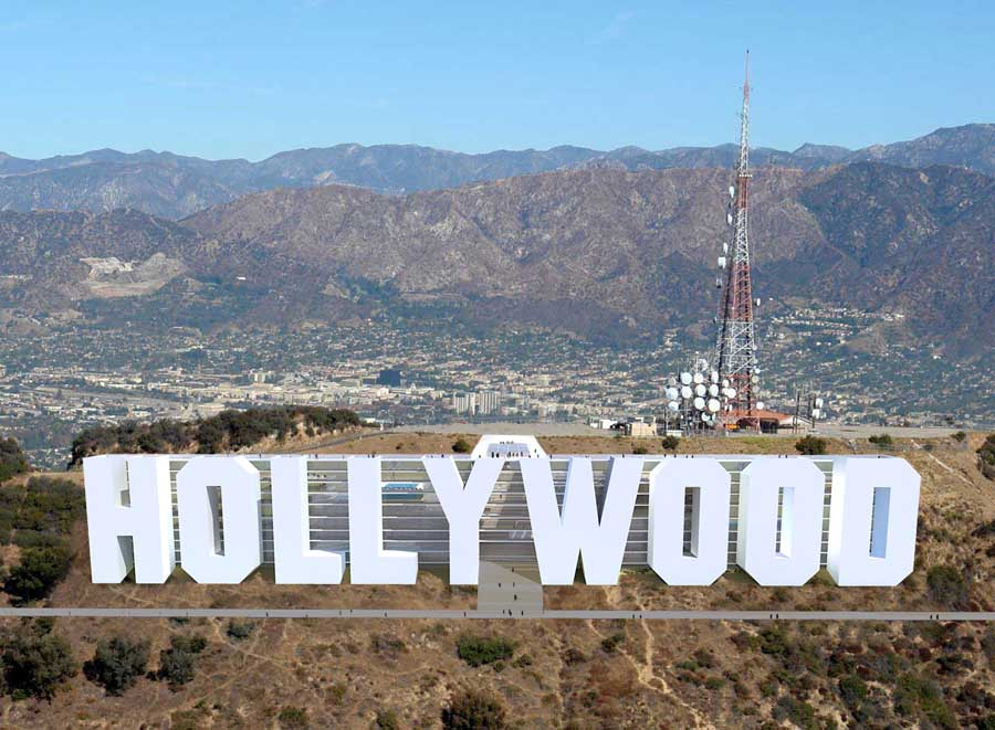 hollywood sign hotel los angeles architect holly project