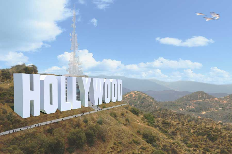 hollywood sign hotel los angeles building e architect