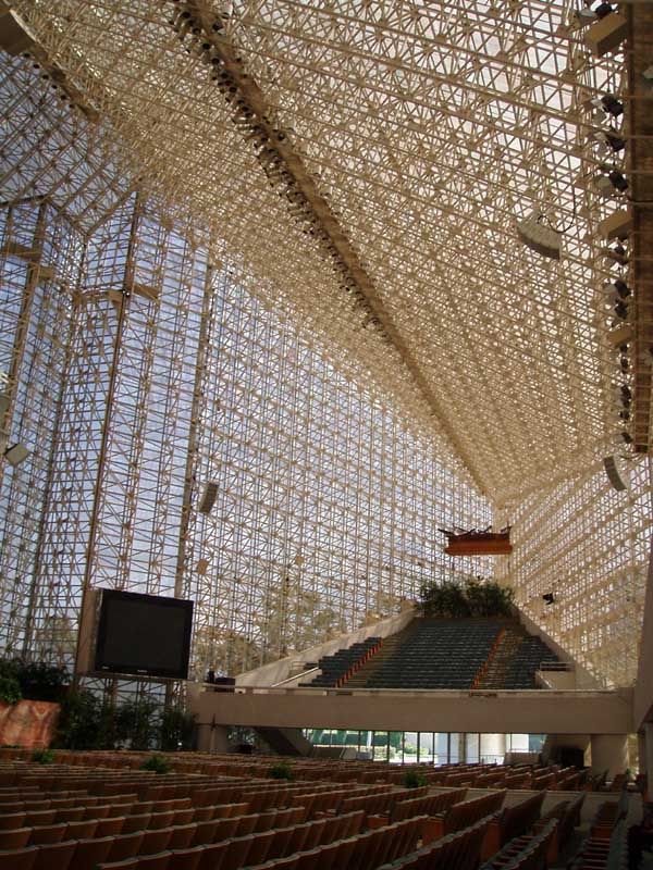 Crystal Cathedral Los Angeles Philip Johnson Building E Architect