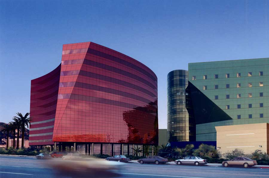 Red building pacific design center los angeles e architect for Nice building images