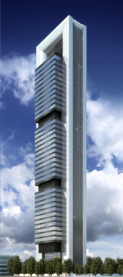 Torre caja madrid tower building foster partners e for Norman foster strutture