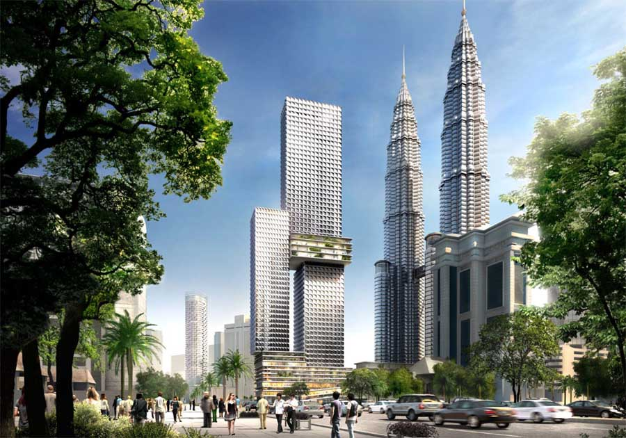 The spiral malaysia malaysian residential building e for Architecture buro