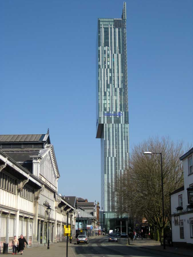 Manchester Appartments Skyline Central Hilton Hotel Manchester Beetham Tower E Architect
