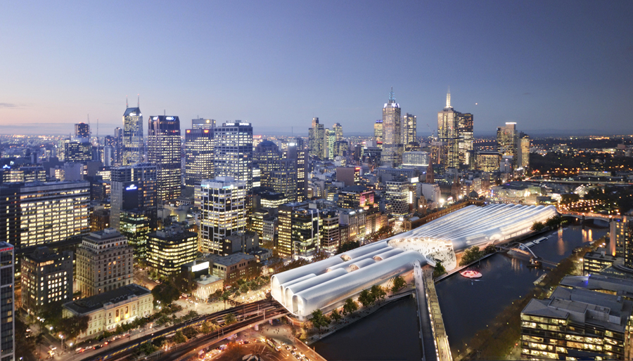 Flinders street station design competition e architect for Architects melbourne