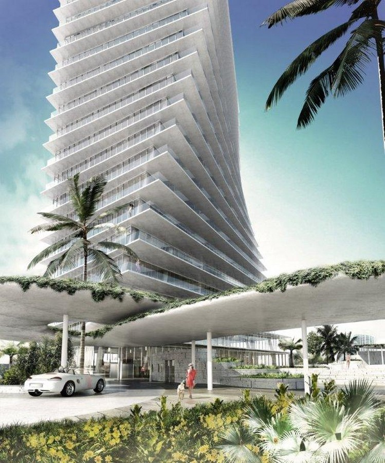 Coconut grove waterfront twisting towers miami e architect for Architect florida