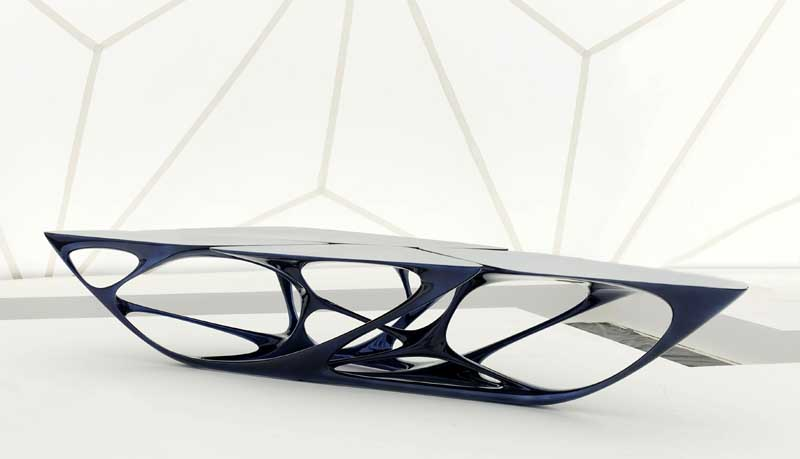 Milan furniture fair images products designs e architect for Mesa table design by zaha hadid for vitra