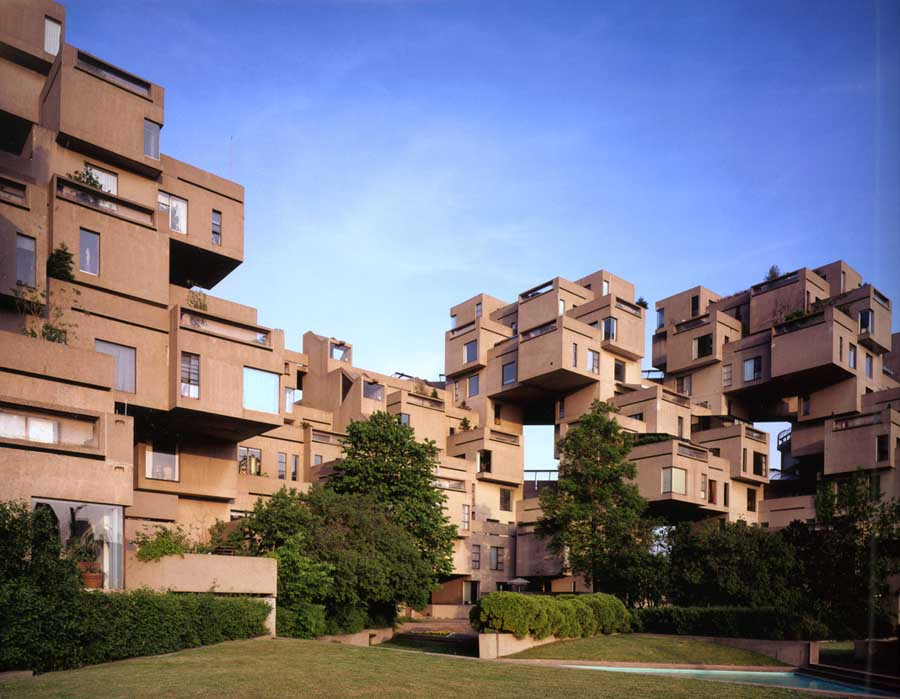 Habitat 67 moshe safdie montreal building architect e architect for Construction habitat