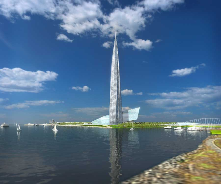 Gazprom Tower St Petersburg Builidng Russia E Architect
