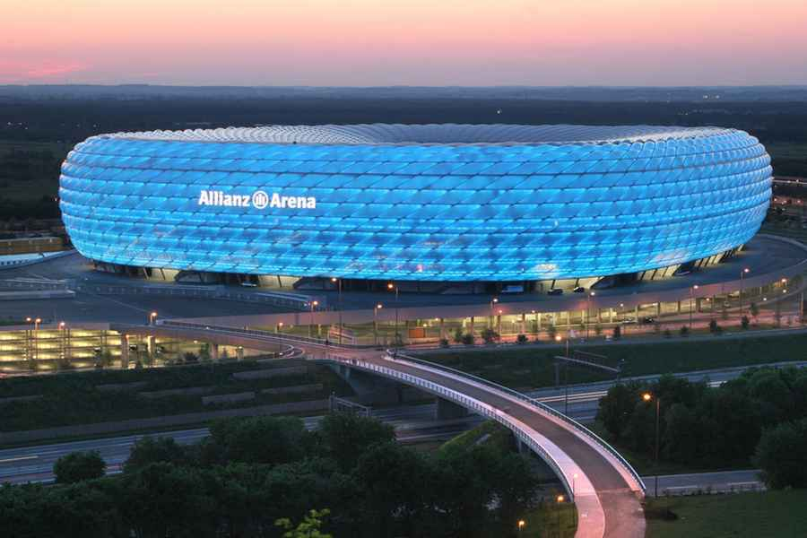 munich football stadium allianz arena e architect. Black Bedroom Furniture Sets. Home Design Ideas