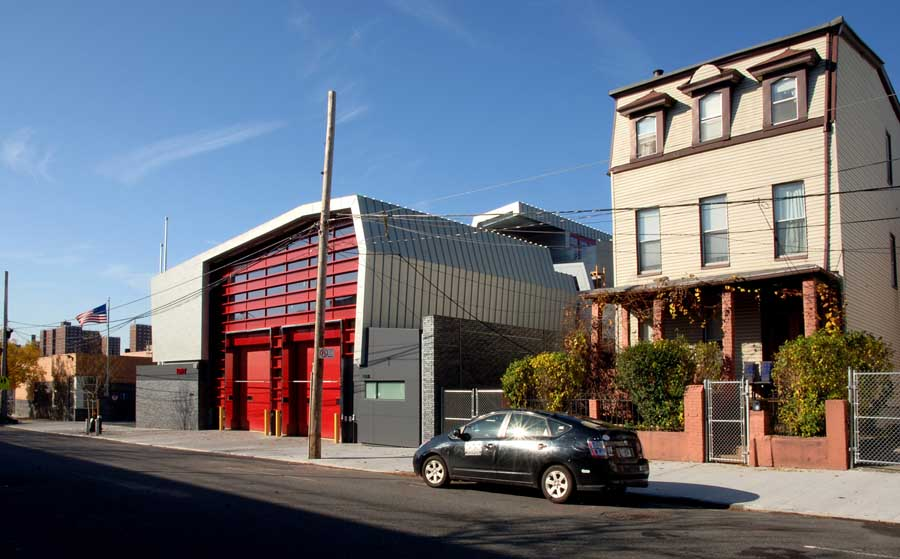 London fire station buildings e architect for Architecture companies in nyc