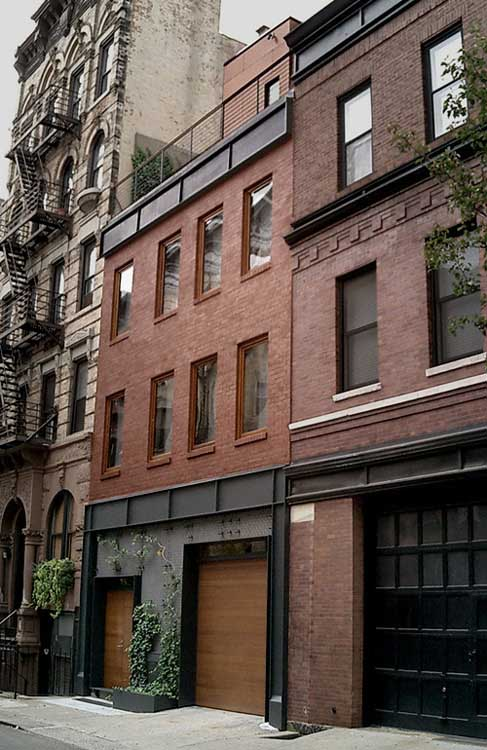 Leroy street town house manhattan residence e architect Modern house architect new york