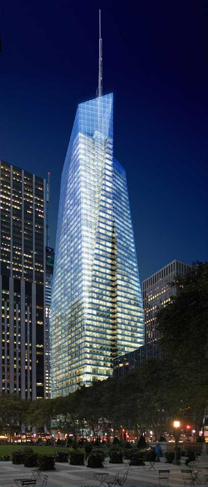 One Bryant Park New York, Bank of America Tower - e-architect