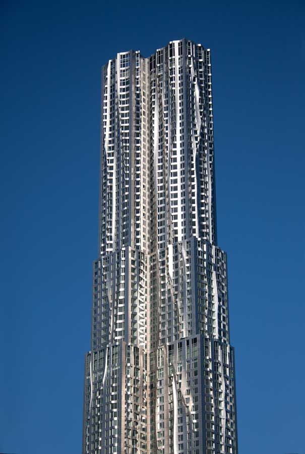 new york by gehry 8 spruce street rippling building e