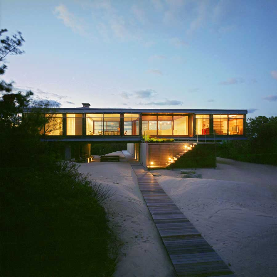 Bay residence the hamptons house long island property for Modern beach style homes