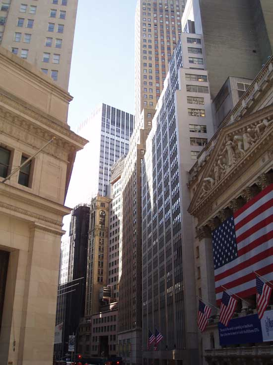 stock exchange wall street. Wall Street Architecture