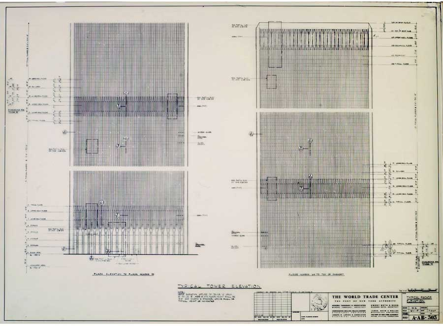 World Trade Center Architectural Drawings New York E Architect