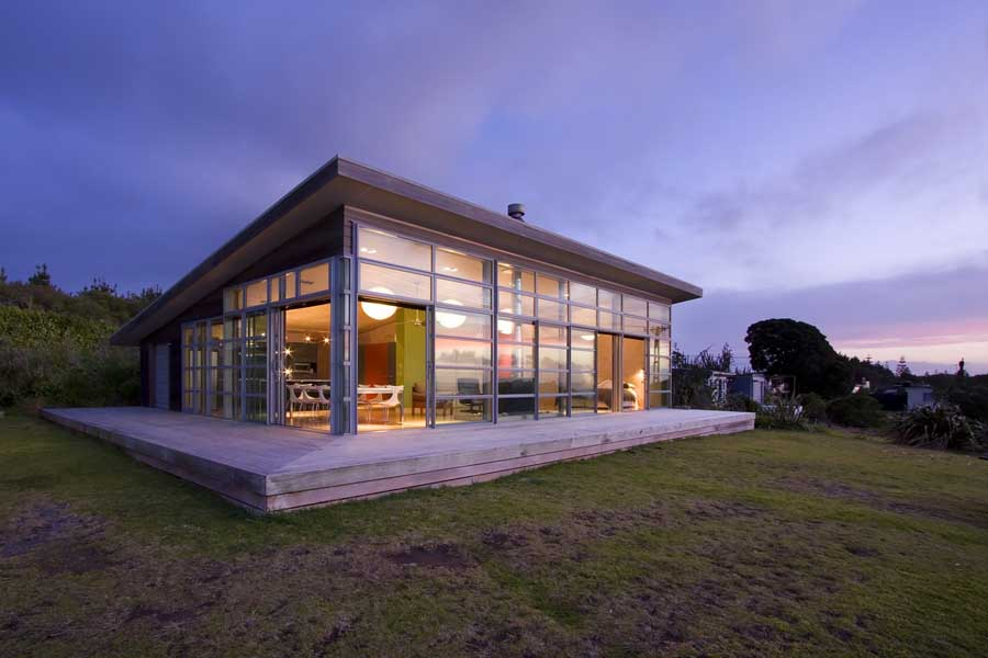 waitara bach new zealand beach property home e architect