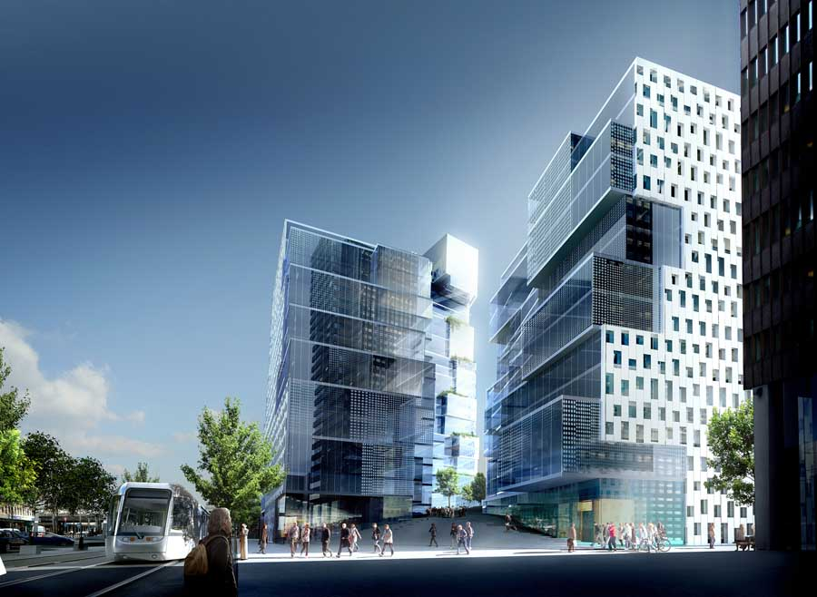 Crystal clear oslo norway building e architect Modern residential towers