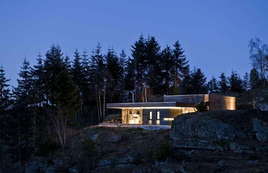 Modern Cabin Norway: Bjergøy Residence, GJ-9 - e-architect
