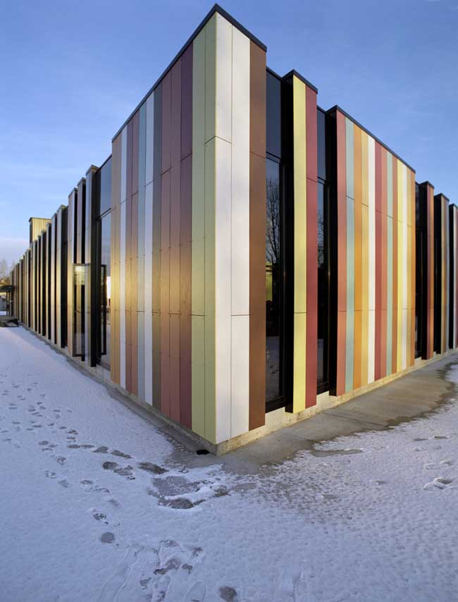 Oslo international school building norway e architect for Exterior building materials