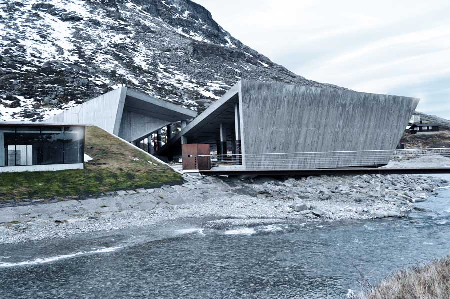 Trollstigen national tourist route project norway e for Mountain lodge architecture