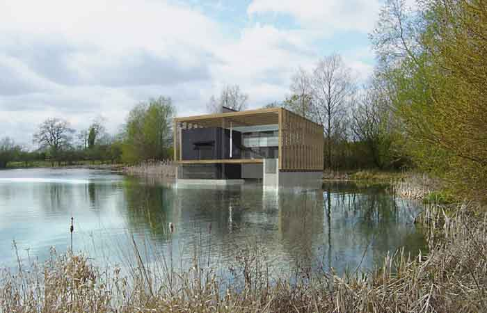 Lower mill estate boathouse building oxfordshire e Sutherland home