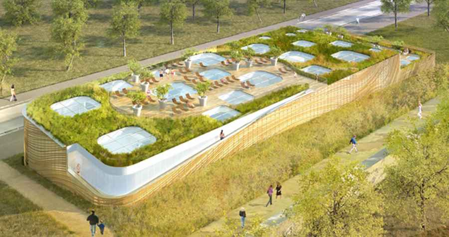 Piscine issy les moulineaux paris swimming pool e architect for Outdoor swimming pool design uk