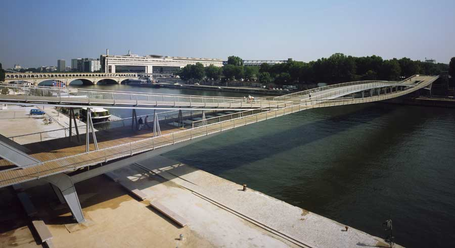 Passerelle Simone De Beauvoir Paris Footbridge E Architect