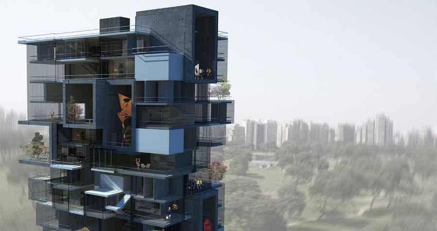 Lima Residential Building Picture From Architects