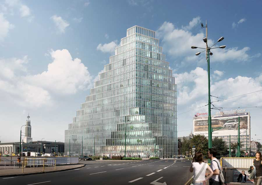 Baltyk tower mvrdv poland pozna building e architect for Top design hotels poland