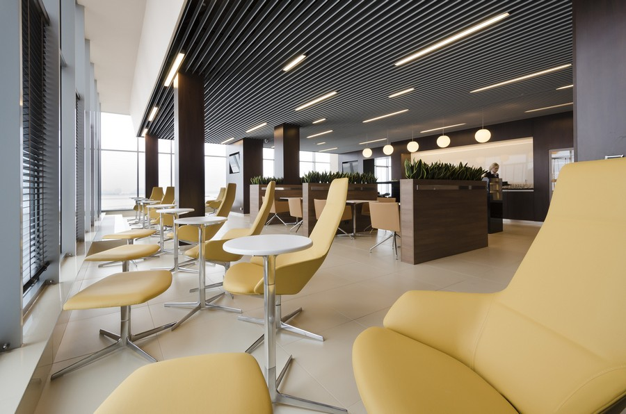 Katowice airport business lounge poland e architect for Best airport lounge program