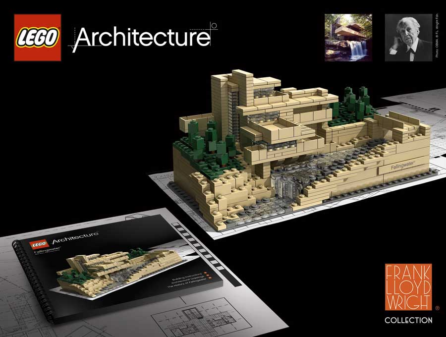 Lego architecture brickstuctures lego building models e architect - Lego falling waters ...