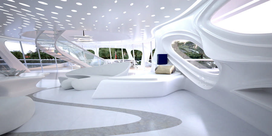 Zaha hadid superyacht blohm voss boat e architect for Interior design zaha hadid