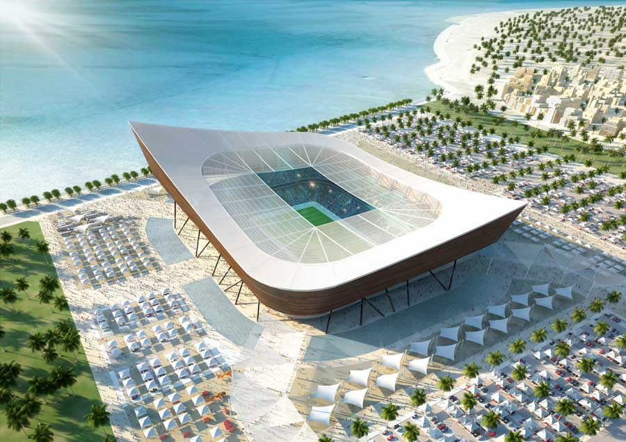 World cup stadiums qatar buildings fifa world cup e for Architecture qatar