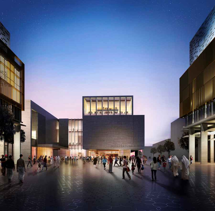 5 mandarin oriental hotel doha cultural forum qatar e for Cloud 9 architecture