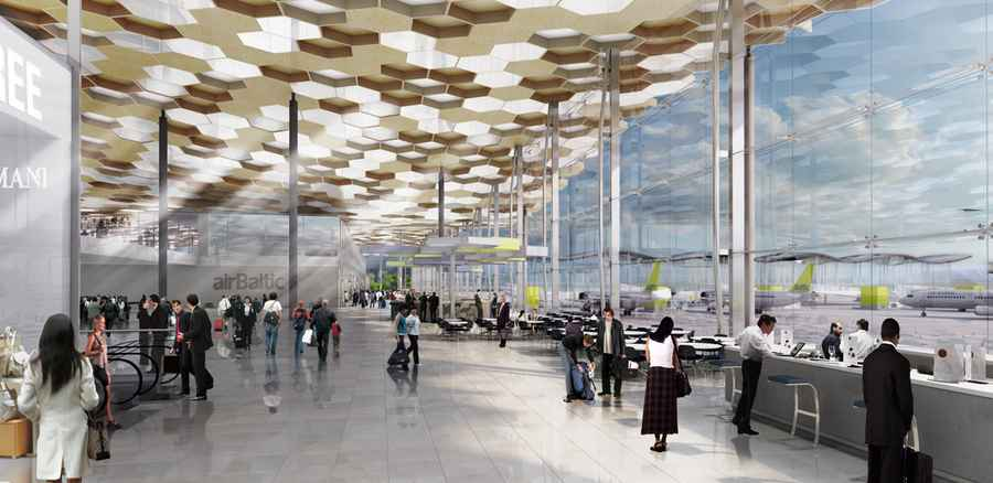 Airbaltic New Terminal Design Competition E Architect