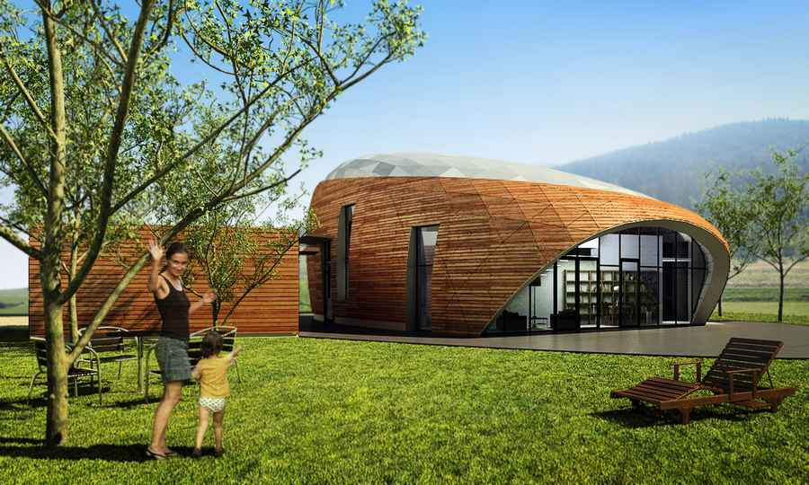 House In Romania Free Form Buildings Residence E Architect
