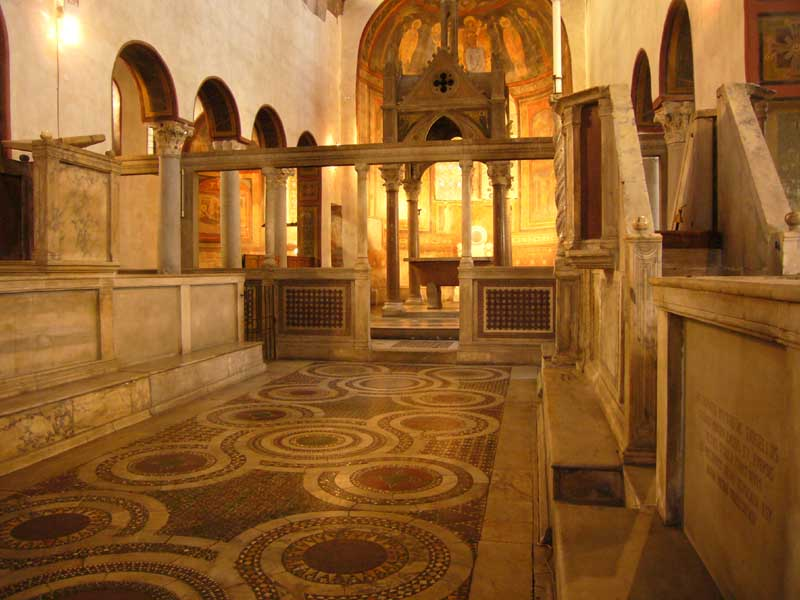 Santa maria in cosmedin rome architecture e architect for Ancient roman interior decoration