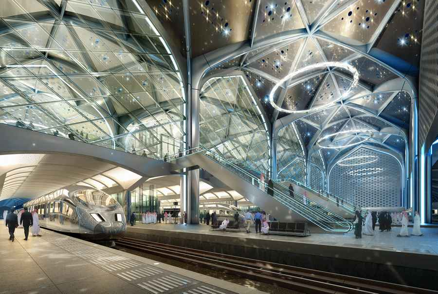 furniture riyadh with Haramain High Speed Railway Stations on Prince Naif Centre Henning Larsen Architects together with Capital Market Authority Tower H291015 2 besides Haramain High Speed Railway Stations in addition Showroom also .