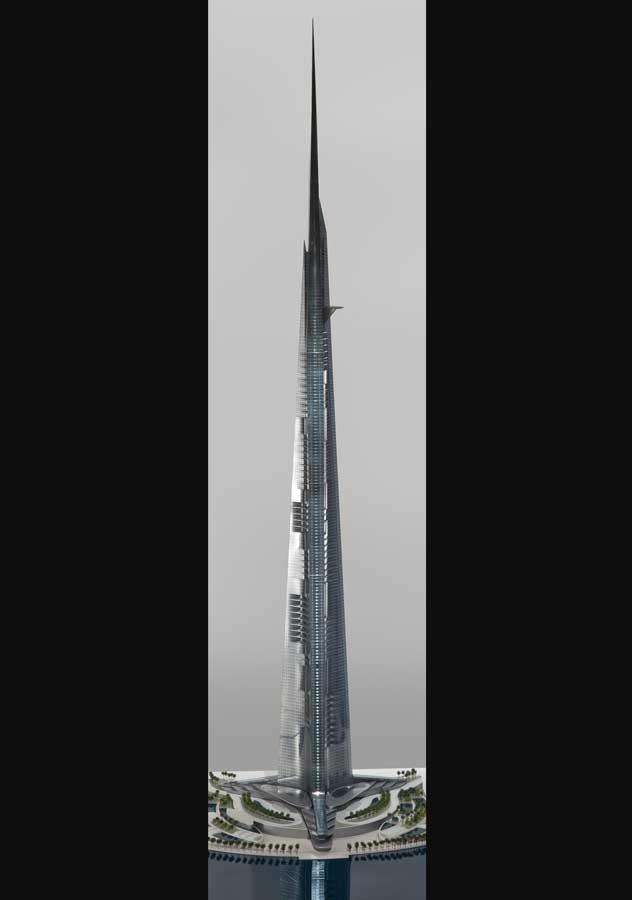 Kingdom Tower Jeddah Saudi Arabian Skyscraper E Architect