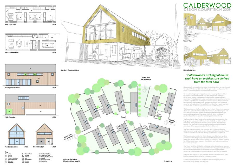 Calderwood housing west lothian homes e architect for Architecture house design competitions