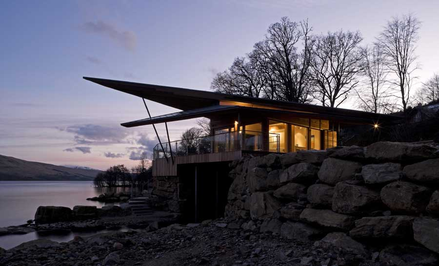 Loch Tay Boat House Highlands Property Scottish Boathouse E architect